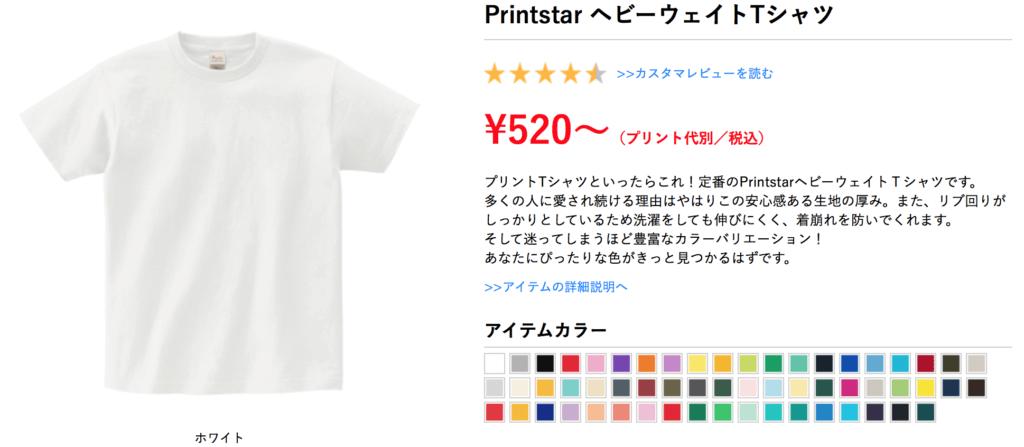 オリジナルプリント.jpでオリジナルTシャツを印刷